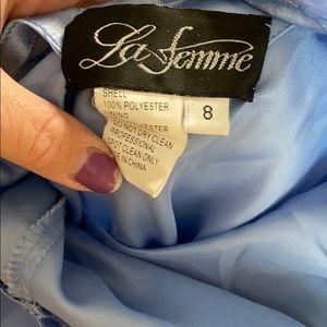 La Femme floor length dress. Small repairable rip